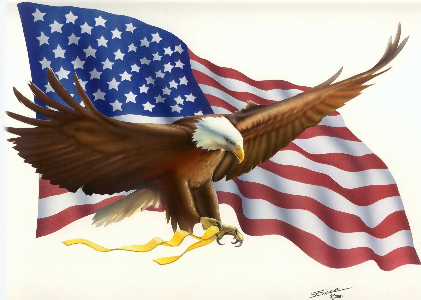 Eagle Flag Engle Bob Free Images At Clker Com Vector Clip Art E9k3so Clipart